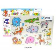 Koka puzzle Dzīvnieki
