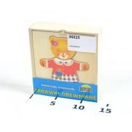 Koka puzle - lācītis