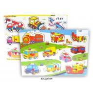 Koka puzle Mašīnas