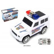 Policijas džips ar baterijām