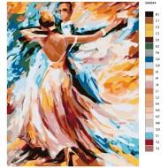 Glezna pēc numuriem - Deja 50x40 KTMK-948844