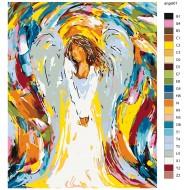 Glezna pēc numuriem - Eņģelis, 40 x 50, KTMK-angel01