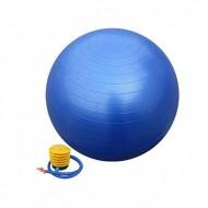 Vingrošanas bumba ar sūkni 65 cm, zila