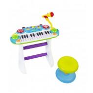 Bērnu sintezators-klavieres ar krēslu