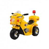 Детский желтый мотоцикл с боковыми колесиками  WDLQ998
